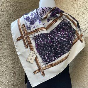 Multicolored Gucci silk large scarf